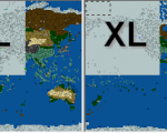 Comparison of size of W4Y and XL map